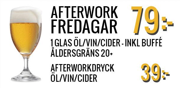 Afterwork fredagar på Black pearl bar Kungsbacka